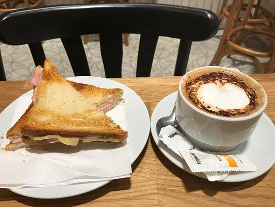 Massamara: Breakfast - Bikini Sandwich and coffee
