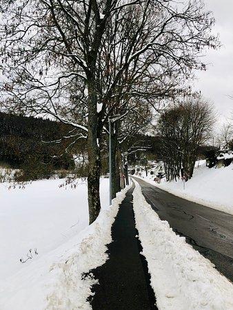 Trochtelfingen, Germany: town - winter time