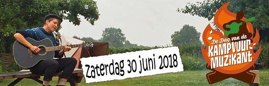 Noord-Brabant, Nederland: Dag van de kampvuurmuzikant mede georganiseerd door NKT