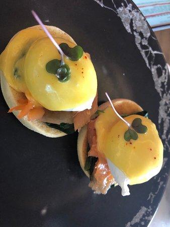 The Restaurant at Address Boulevard: Eggs Benedict