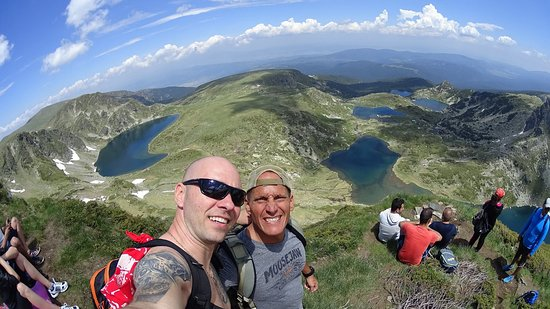 Lozenets, Bulgarie : Rila Lakes - me on the right and Konstantine from SOAC on the left