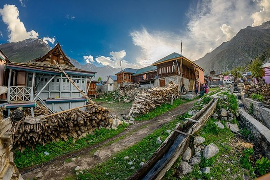 Chitkul is a village in Kinnaur district of Himachal Pradesh. It is the last inhabited village near the Indo-China border. The Indian road ends here. During winters, the place mostly remains covered with the snow and the inhabitants move to lower regions of Himachal