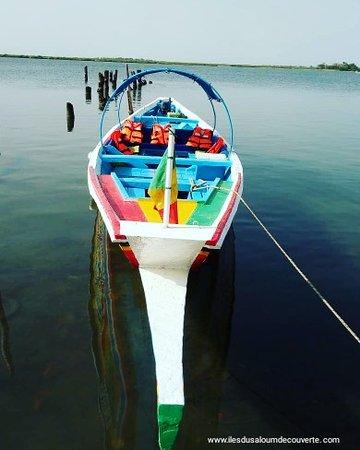 Notre pirogue sine Saloum Sénégal avec nous découvrez le vrai delta du saloum Sénégal