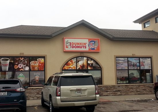 Edgerton, WI: front of the Dunkin' Donuts at the Shell gas station plaza