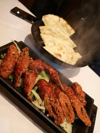 Panas Nepalese Dining: Seekh Kebab and Plain Naan