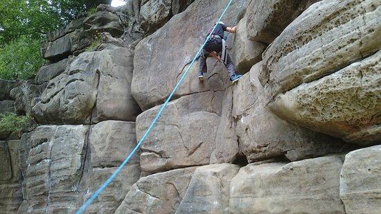 Groombridge, UK: Outdoor climbing