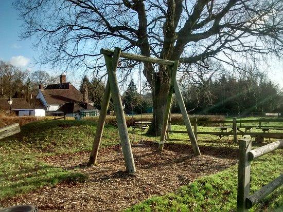Hawkhurst, UK: Great play area for children alongside the premises