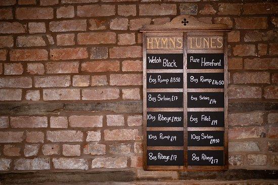 Eardisland, UK: Our pure breed steak board