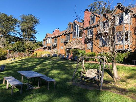Back yard and gardens at Olema House