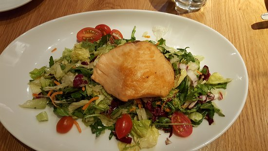 BRIO Tuscan Grille: Salmon with Salad