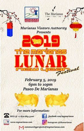 Join us on Feb. 5 for the 2019 Marianas Lunar New Year Festival at Paseo de Marianas in Garapan, Saipan!  A full evening of entertainment, food and more for visitors and residents, alike!  #TheMarianas #MyMarianas