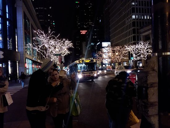 The Magnificent Mile at night