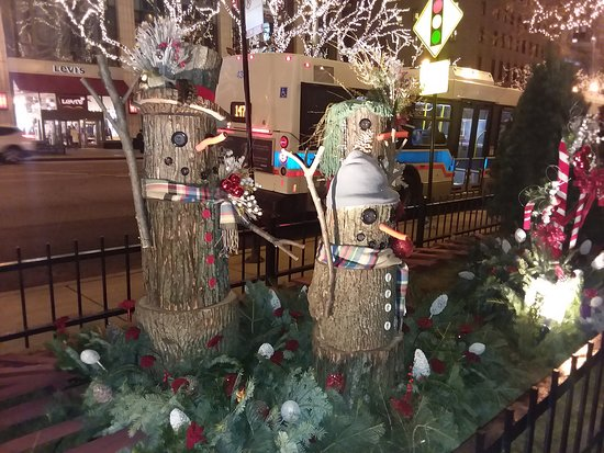 The Magnificent Mile: The variety of decorations along Michigan Avenue is to be noted.