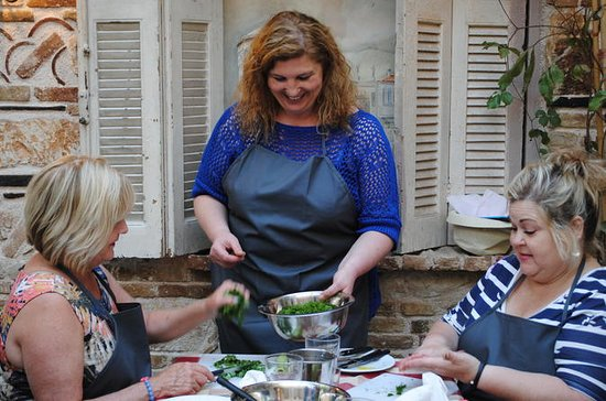 Greek Small-Group Cooking Class in an...