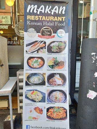 The Food Menu Picture Of Makan Halal Korean Restaurant Seoul Tripadvisor