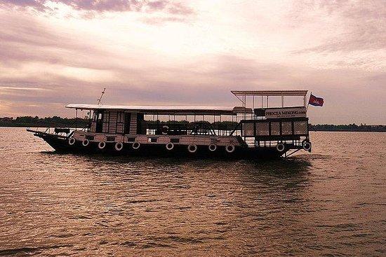 Sonnenuntergangs-Bootstour Mekong...