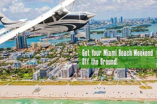 私人飞机游览迈阿密海滩和南海滩