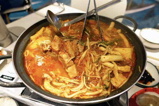 Strathfield, Australia: Spicy Pork Rib Hot Pot ($45/small)
