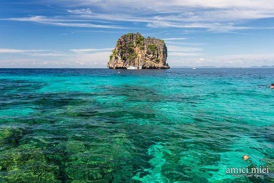 从普吉岛乘快艇到Koh Rok和Koh Haa的全日浮潜之旅