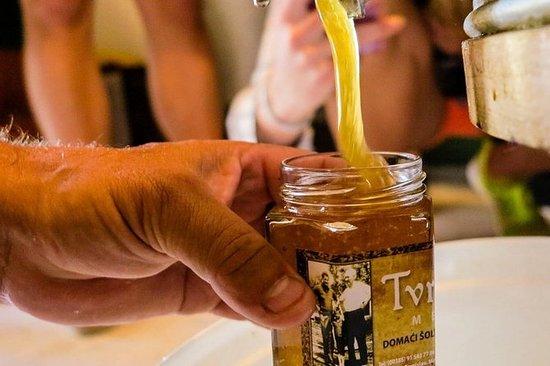 Vin, miel et huile d'olive de l'île...