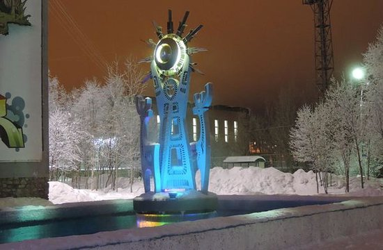 Olenegorsk, روسيا: Фотография сделана в новогодние праздники 2015-2016 гг.
