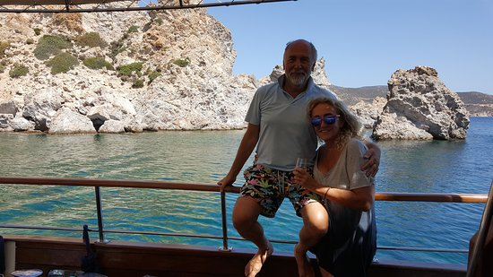 Romantic times at the beautiful bays of Aegean Sea on one of the Golden Yachting boats.