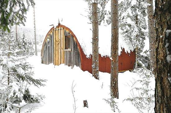 Stadlhütte für 3 Personen, unser kleinster war total begeistert und wollte gar nicht mehr heim, Kids spielten ganzen Tag im Schnee..