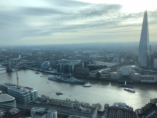 Londres, UK: View from 35th floor public gallery