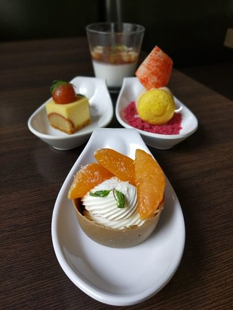 Rasagulla infused Cheesecake Exotic Panacotta  Lemon Orange Fantasy