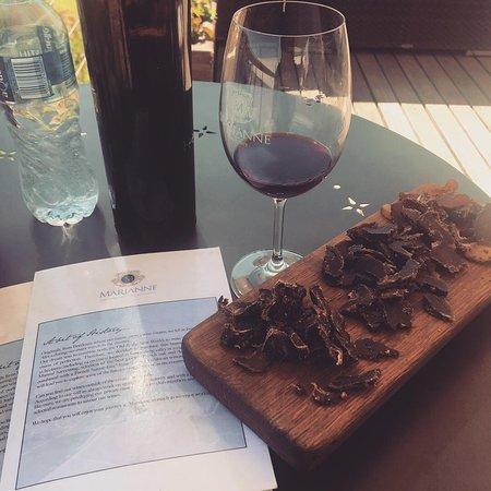 Wine & biltong pairing