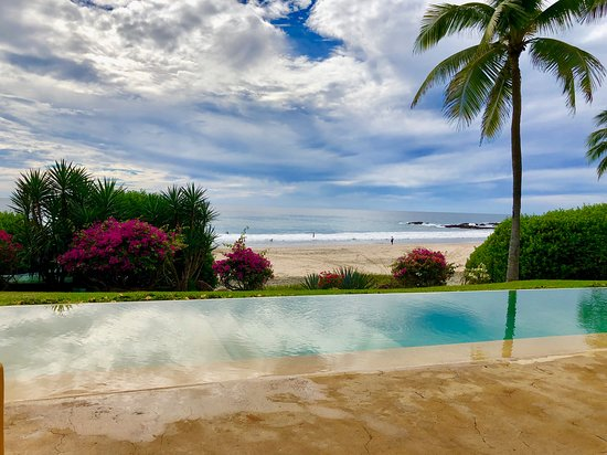 Las Alamandas Resort: View from the patio of a room!  So beautiful!
