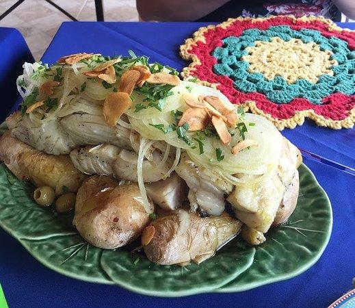 bacalhau na brasa com batatas ao murro
