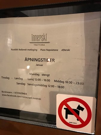 Oyer Municipality, Norway: FALSE: Opening hours as listed at the front door, but the door was still locked at 1804.