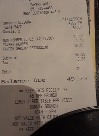 Arden Hills, Миннесота: Prices for food and beers are typical for Minnesota and the portion was OK.