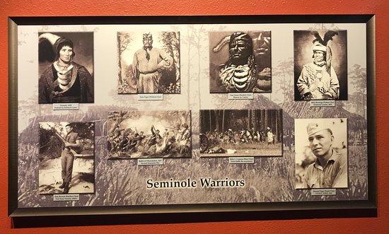 Seminole Brighton Casino: Pictures of the Seminole Warriors