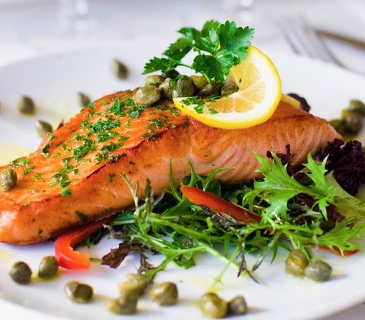 Richton Park, IL: Grilled salmon filet