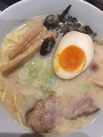 Close up of ramen dish