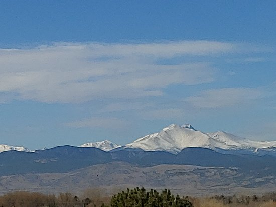Longmont, CO: The virw from our hotel room.
