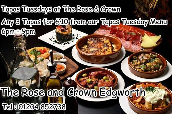 Edgworth, UK: Tapas Tuesday ..... 3 tapas for £10 from our Tapas Tuesday menu  , served from 6pm till 9pm :D