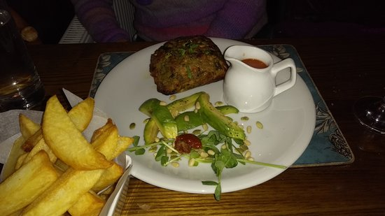 Orleton, UK: Nut Roast with chips and vegetables (not in picture)
