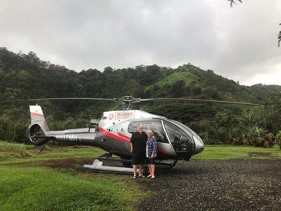 Maui Helicopter Tour Over Haleakala National Park and the Hana Rainforest: Landing son in the Rain Forest.