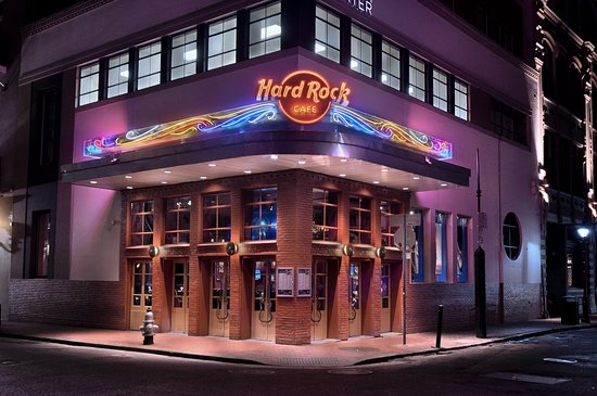 Night-time vibes at Hard Rock on Bourbon Street