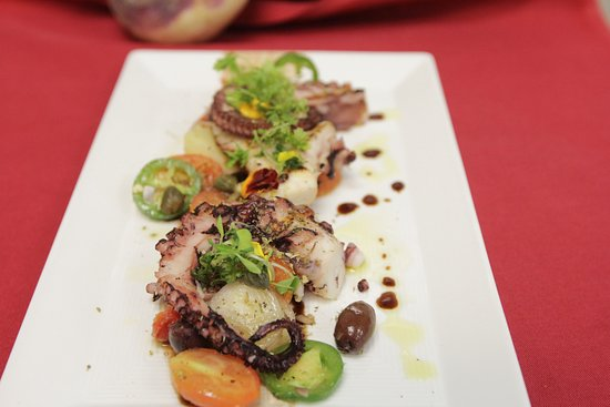 Chef Khalil's great grilled  octopus salad