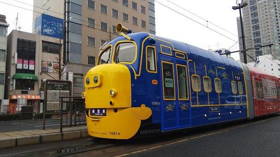 Okayama, Japan: 3月から登場予定のチャギントン電車です。