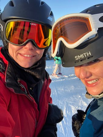 Pre season skiing