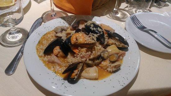 Borgaro Torinese, Italy: Risotto alla pescatora