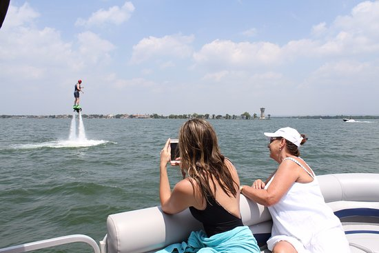 Horseshoe Bay, TX: Always nice to watch your friends and family take on flyboarding!