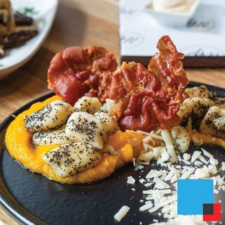 Gnocchi with pumpkin and pancetta