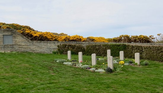 East Falkland, Falkland Islands: One side of the cemetery.