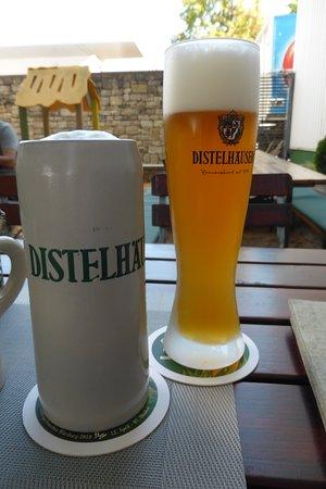 Tauberbischofsheim, Tyskland: Es war heißer Sommertag und der Radler war hervorragend!